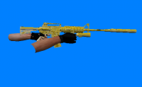 Golden M4A1 (Chrome)