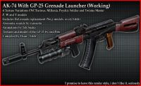Ak74 With Gp-25 Grenade Launcher