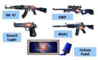 AK-47, AWP, DESERT EAGLE, M4A1 GALAXY pack