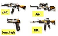 Eagle Paints for AK-47, AWP, Desert Eagle and M4A1.