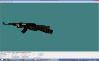 BLACK AK-47 WITH DARK BROWN CAMO HANDS