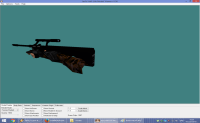 BLACK STEYR AUG WITH DARK BROWN CAMO HANDS