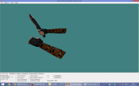 KNIFE WITH ORANGE CAMO HANDS