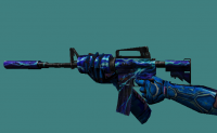 M4A1 Lightning Blue + Metal Hands