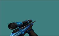 AWP Lightning Blue + Metal Hands