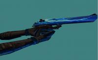 Deagle Lightning Blue + Metal Hands