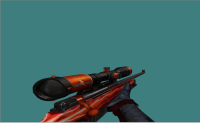 AWP Lightning Red + Metal Hands