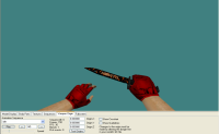 P@P!T0 Knife+Red Gloves skin