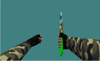 knife with camuflage skin