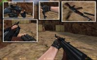 AK-74 for M4A1 w/ Red mags skin